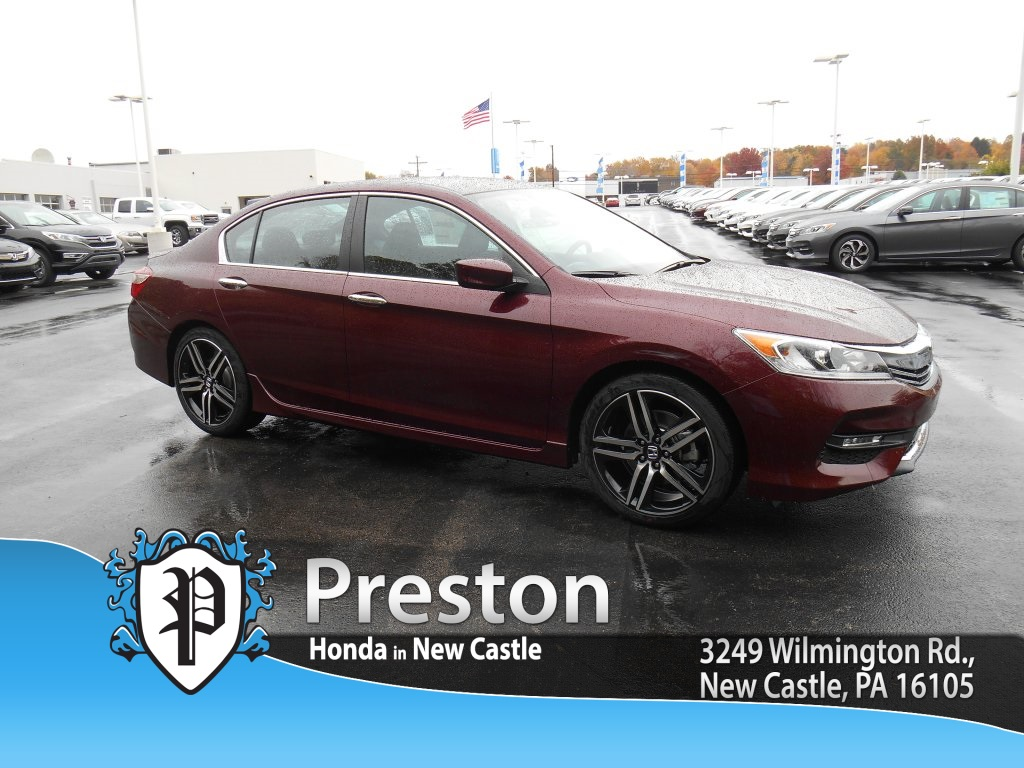 new 2016 honda accord sport 4d sedan in new castle h16118 preston honda. Black Bedroom Furniture Sets. Home Design Ideas